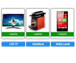 Voita LED-TV, Nokia Lumia tai Nespresso-kahvikone