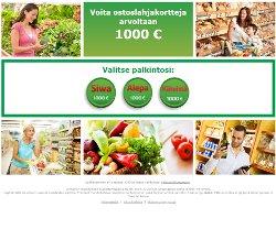 Voita ostoslahjakortteja arvoltaan 1000 €