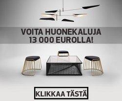 Voita huonekaluja 13 000 eurolla