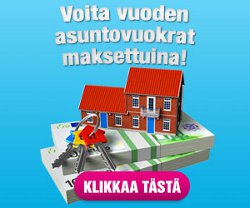 Voita vuoden asuntovuokrat maksettuina