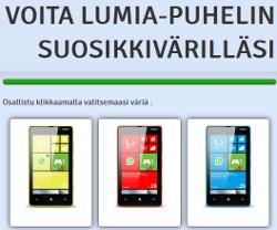 Voita Nokia Lumia suosikkivärilläsi!