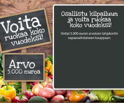 Voita ruokaa koko vuodeksi arvo 2.500 €