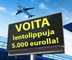 Voita lentolippuja 5.000 eurolla