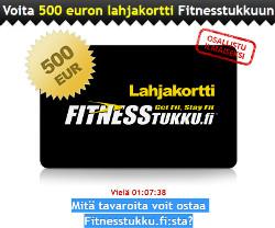 Voita 500 euron lahjakortti Fitnesstukkuun