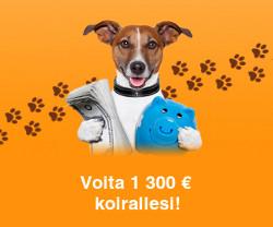 Voita 1 300 € koirallesi!
