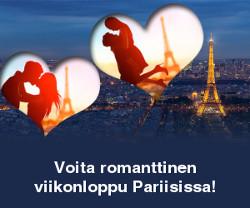 Voita romanttinen viikonloppu Pariisissa!